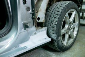 Правое заднее крыло - ремонт и окраска в Автоцвет